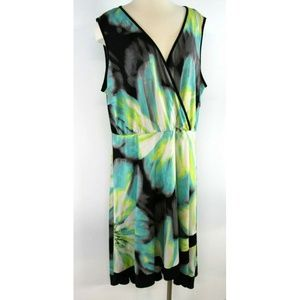 Avenue Dresses - Avenue Women Dress White Yellow Black Floral